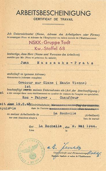 Joan Masachs est membre des archives départementales de Haute Vienne