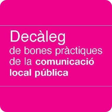 Decàleg de Bones Pràctiques de la Comunicacio Local Pública