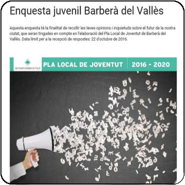 Enquesta juvenil Barberà del Vallès