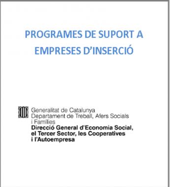 Programes de suport empreses d'inserció